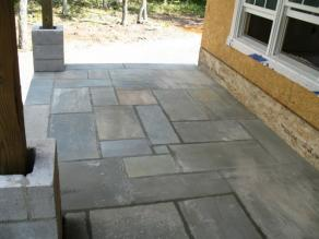 Round Top Blue Stone Patio